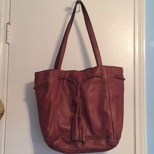 """Lucky Brand Bags - """"Lucky Brand"""" Soft Leather Tote w/Roomy Interior"""